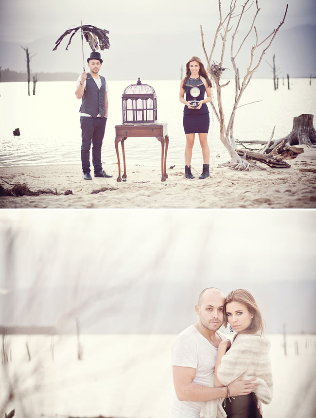 tim burton inspired engagement