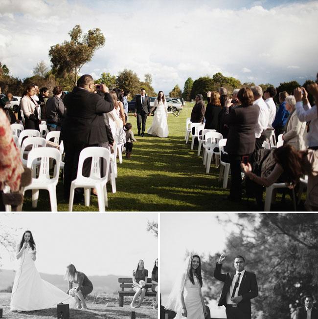 tin shed wedding