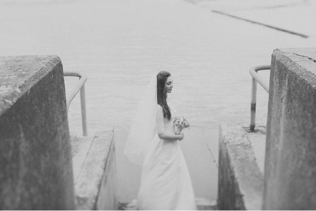 bride and groom, beach