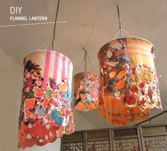 DIY: Flannel Lanterns - Green Wedding Shoes on diy lantern table, diy lantern centerpieces, diy lantern ornaments,
