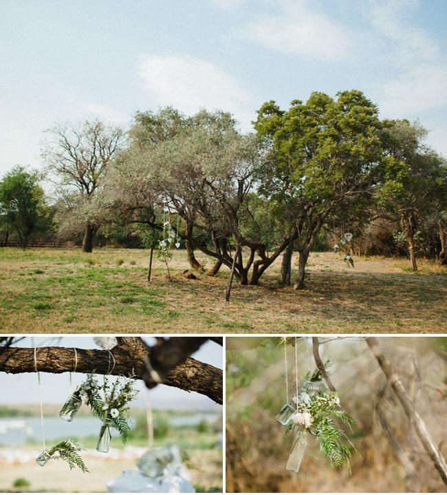 africa wedding, hanging arrangements