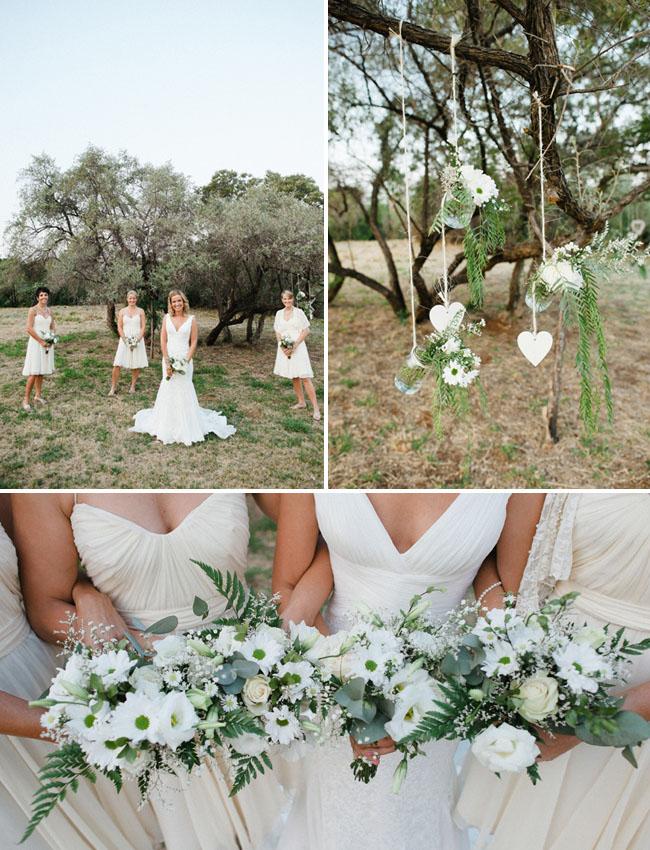 africa wedding, bridesmaids