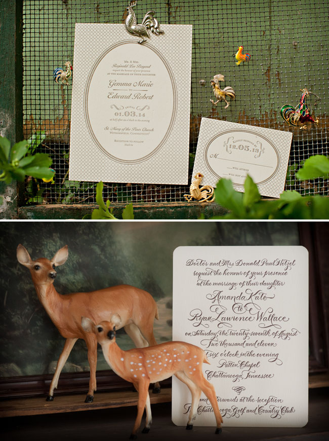 wedding letterpress invitations