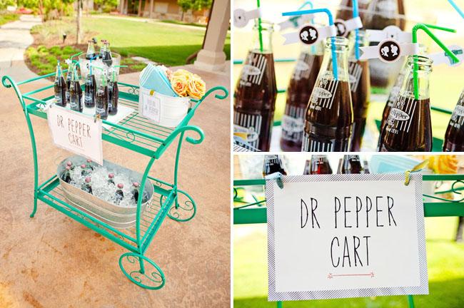 dr. pepper drink cart