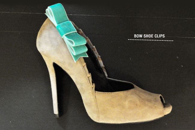 bow shoe clips DIY