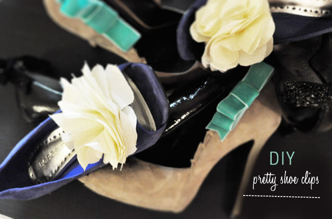 DIY pretty shoe clips