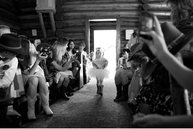 flower girl in boots and tutu