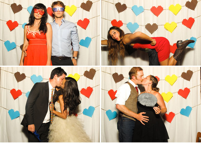 heart backdrop photo booth