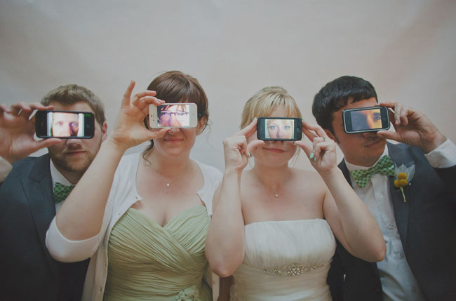 iphone bridal party photo
