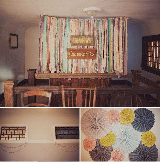 paper fan photobooth backdrop