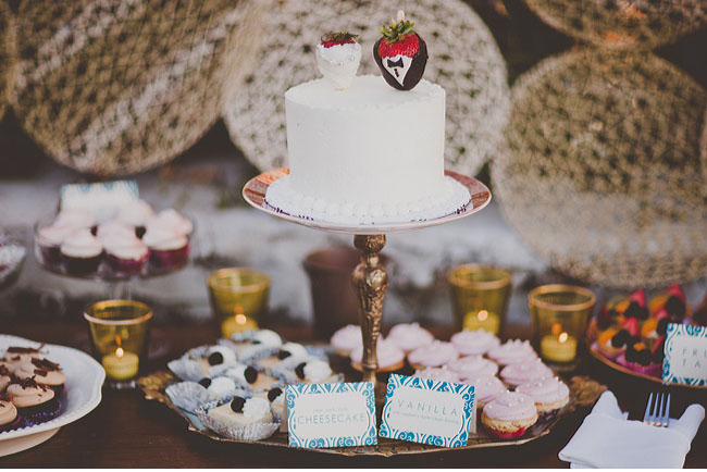 dipped strawberry cake toppers