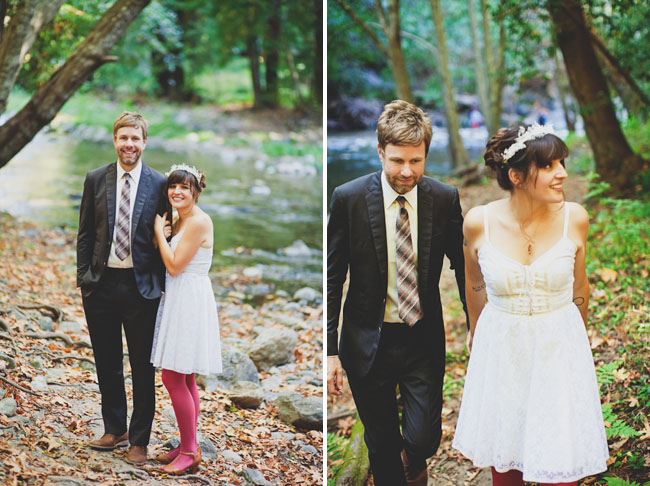 Wedding Dresses in the Woods