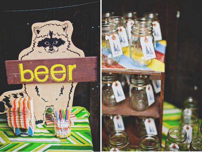 mason jars, beer