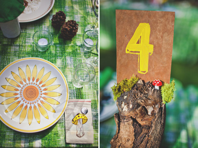 wood and yellow table number