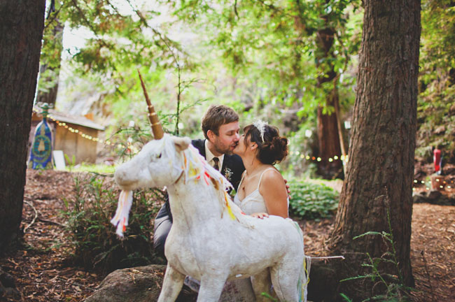 bride and groom, unicorn