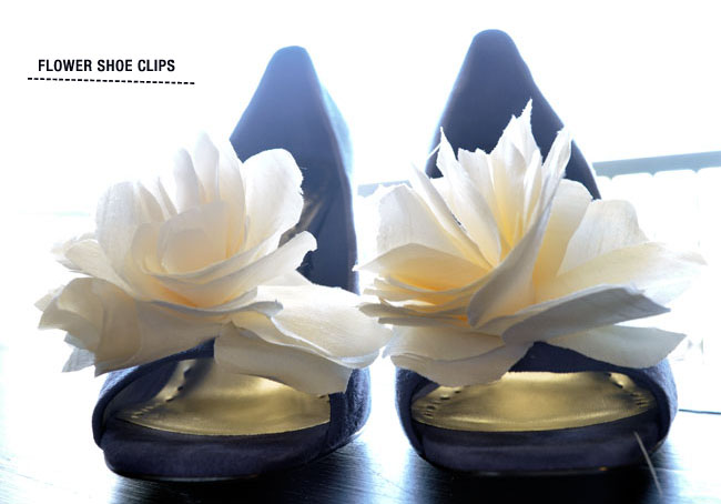 flower shoe clip
