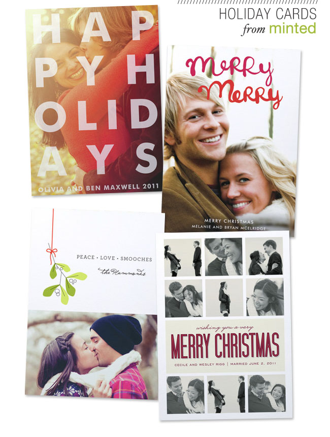 holiday cards minted photos