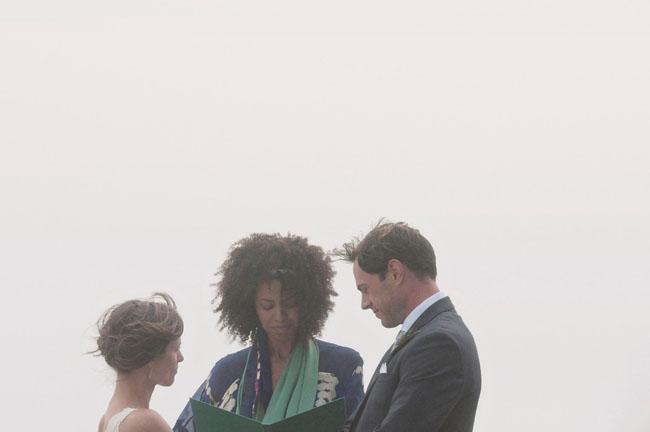 foggy wedding on a hill