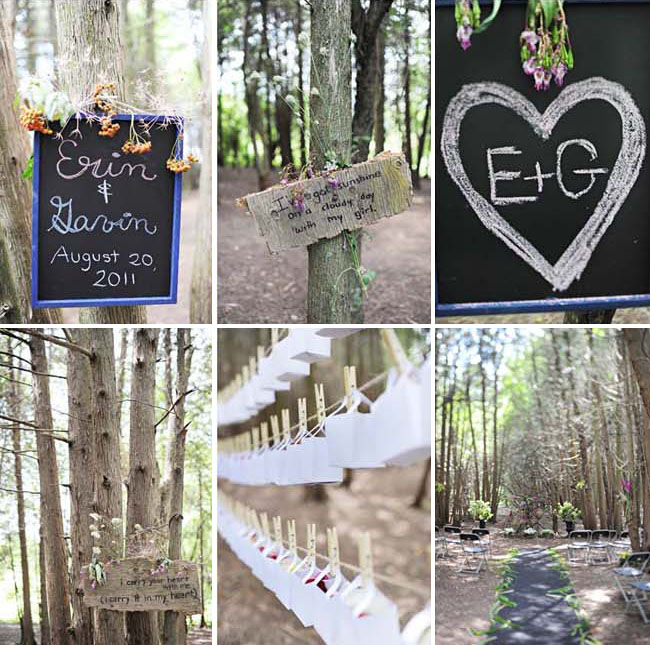 chalkboard ceremony decor