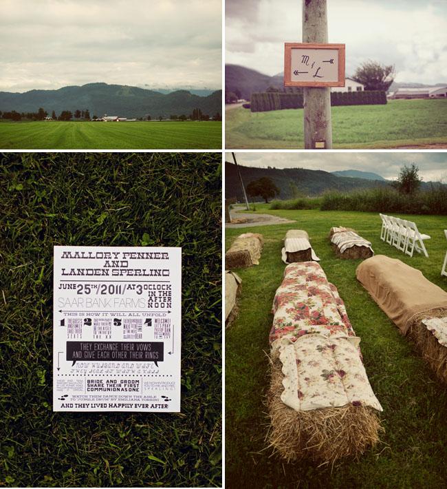 hay ceremony benches