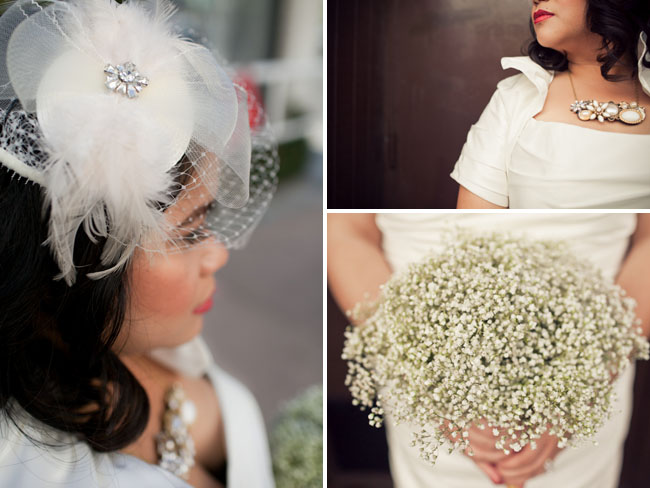 bridal feather hair piece