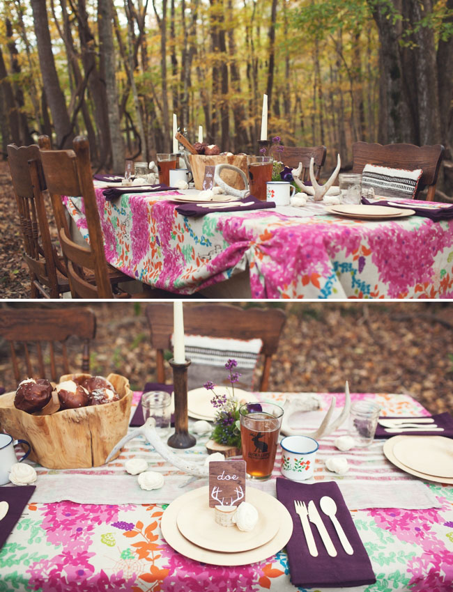 rustic tablecape