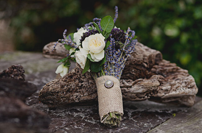lavender and rose bouquet