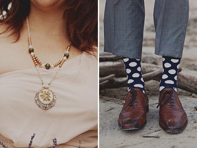 polka dot grooms socks