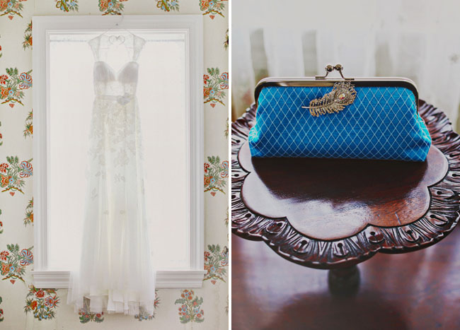 blue cutch, wedding dress