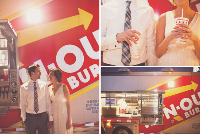 in n out burger wedding