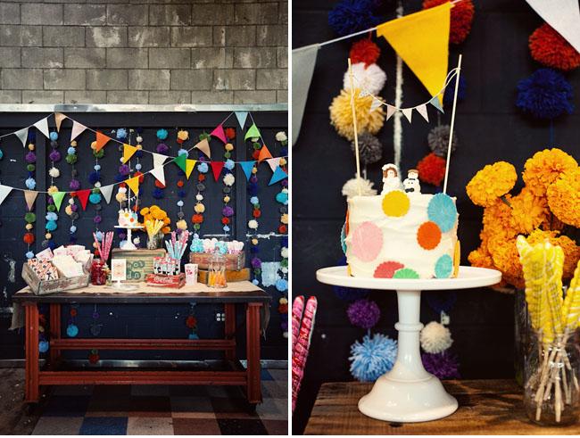 colorful flag candy bar, circle cake