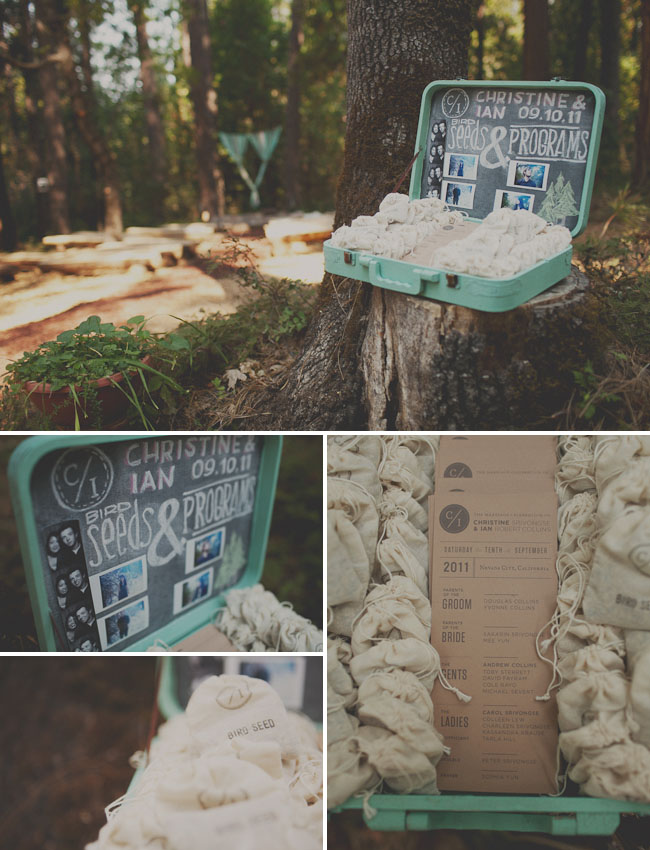 seed wedding pouches