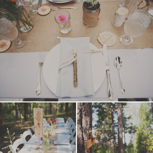 wooded rustic tablescape