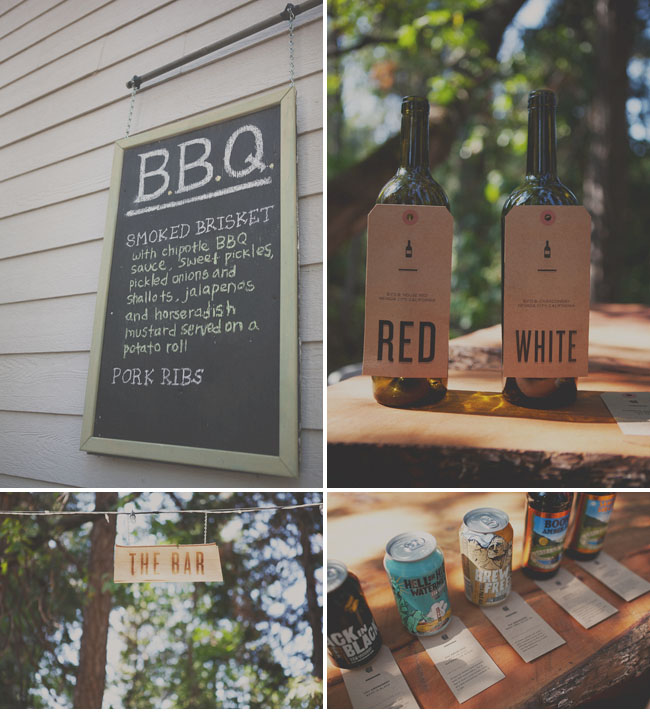 Bbq Wedding Reception Food Ideas: A Handmade Wedding In The Woods: Christine + Ian