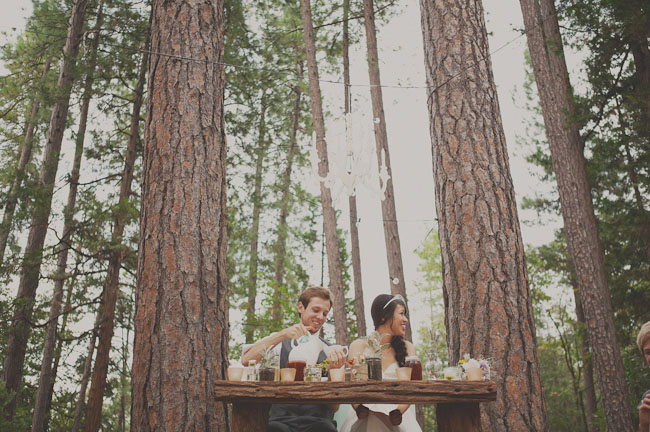 wooded sweetheart table