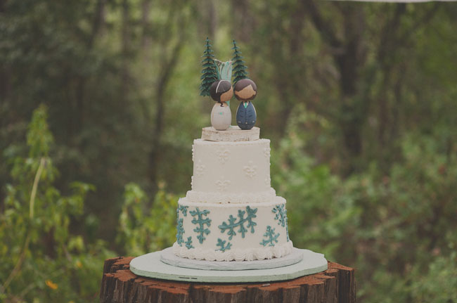 personalized cake topper wood dolls