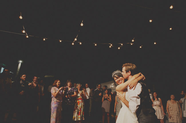 wooded wedding first dance