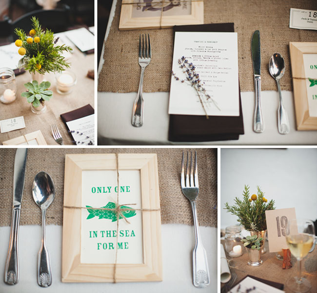 burlap wedding table runners