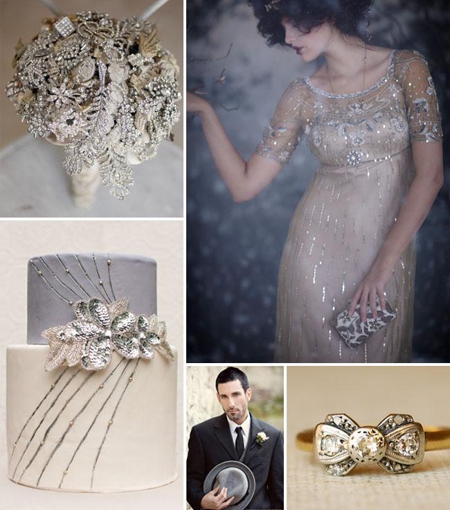 Inspiration Board 42 Vintage Glam Winter Wedding