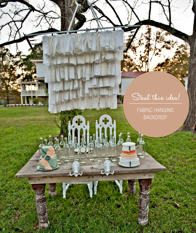 fabric wedding backdrop diy