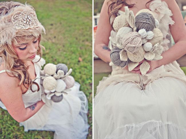 yarn bouquet