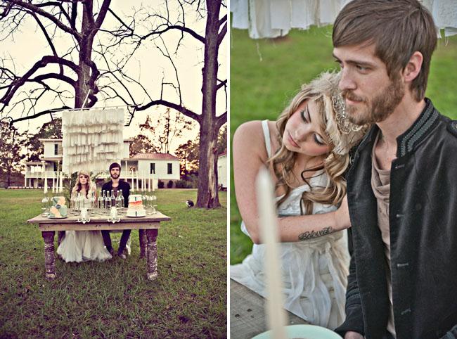 fabric backdrop at wedding