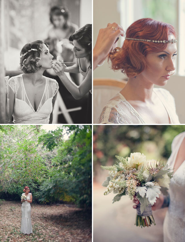 bride with jeweled head piece
