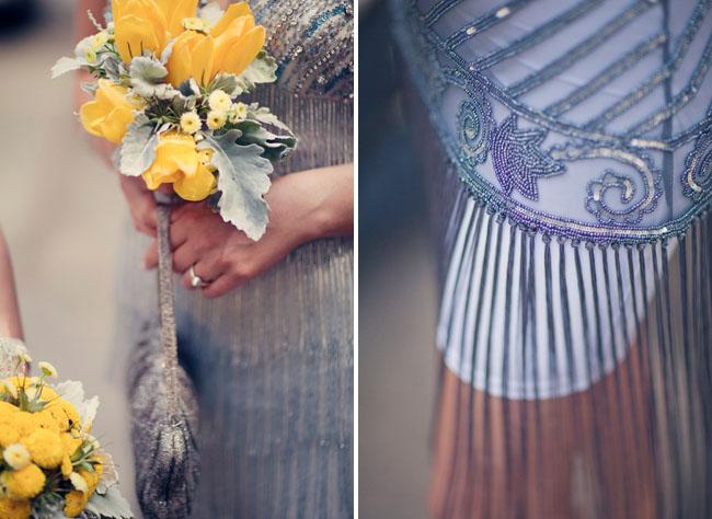 1920s beaded bridesmaid dress