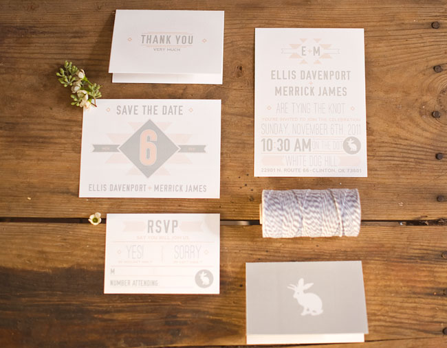 winter wedding invite