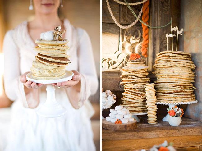 stacks of pancakes