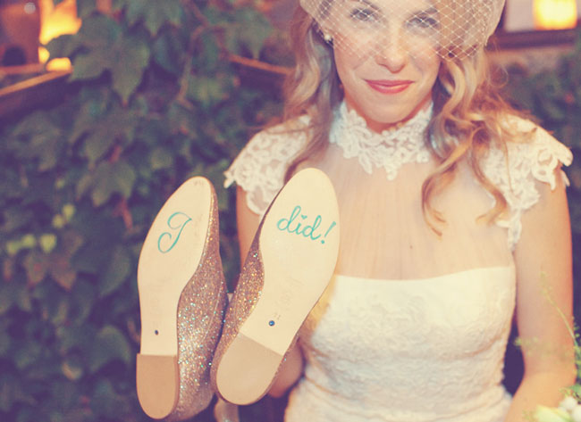 """i did"" shoe applique"