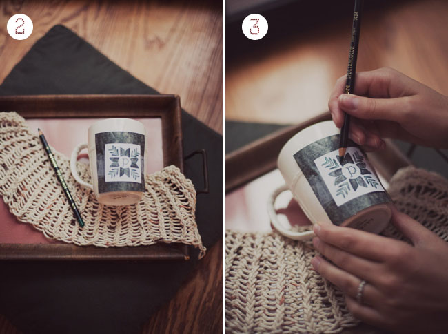 DIY personalized mugs