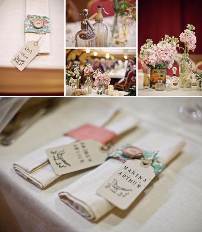 soft pink floral centerpieces