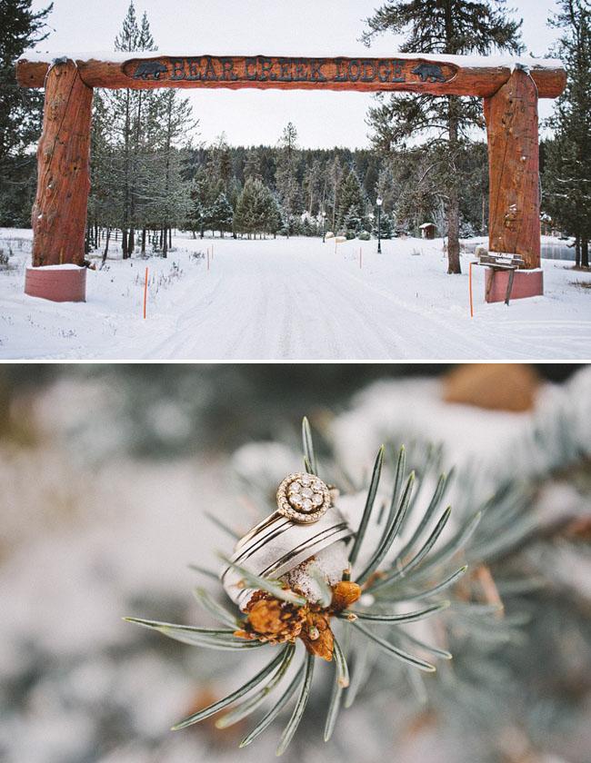 winter wedding in the snow